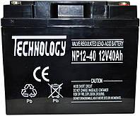 Аккумулятор мультигелевый TECHNOLOGY NP12-40Ah 12V 40AH, (AGM) для ИБП