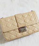 Женская сумка MISS DIOR FLAP BAG BIEGE (2263)