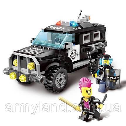 Полицейский SWAT джип набор военный конструктор, фото 2