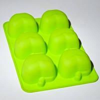 Силиконовая форма для выпечки Яблоки 6 шт на планшете , фото 1