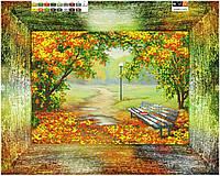 """Схема для вышивки бисером на подрамнике (холст) """"Осенний парк"""""""