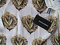 Платок Dolce & Gabbana кашемир молочный