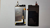 Дисплей  (экран) Lenovo A1000 (телефон) с сенсором черный original.
