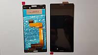 Дисплей  (экран) Sony Xperia M4 Aqua, E2312 с черным сенсором original.