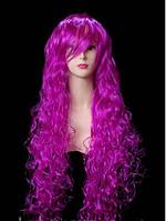 Парик ультра-длинный кудрявый фиолетовый  90 см