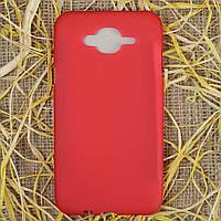Чехол-крышка для Samsung Galaxy J7 J700H Красный Silicon