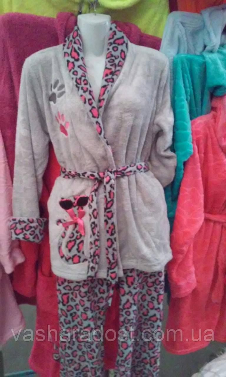 Махровая Женская Турецкая Зимняя Пижама — в Категории