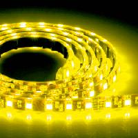 Светодиодная лента 120 smd 3528 герметичная двойная плотность желтая 1 м