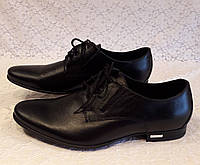 Туфли мужские классические чёрные на шнурках