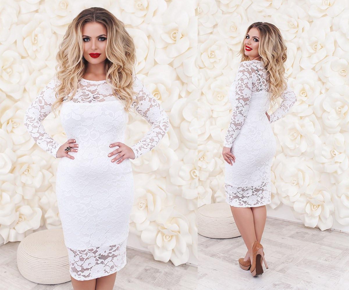 Т2018 Платье коктейльное размеры 48-54
