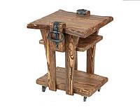 Стол кофейный из натурального дерева