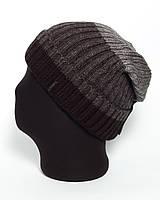 Мужская удлиненная шапка с отворотом ттрехцветная Alaska 3 UniX
