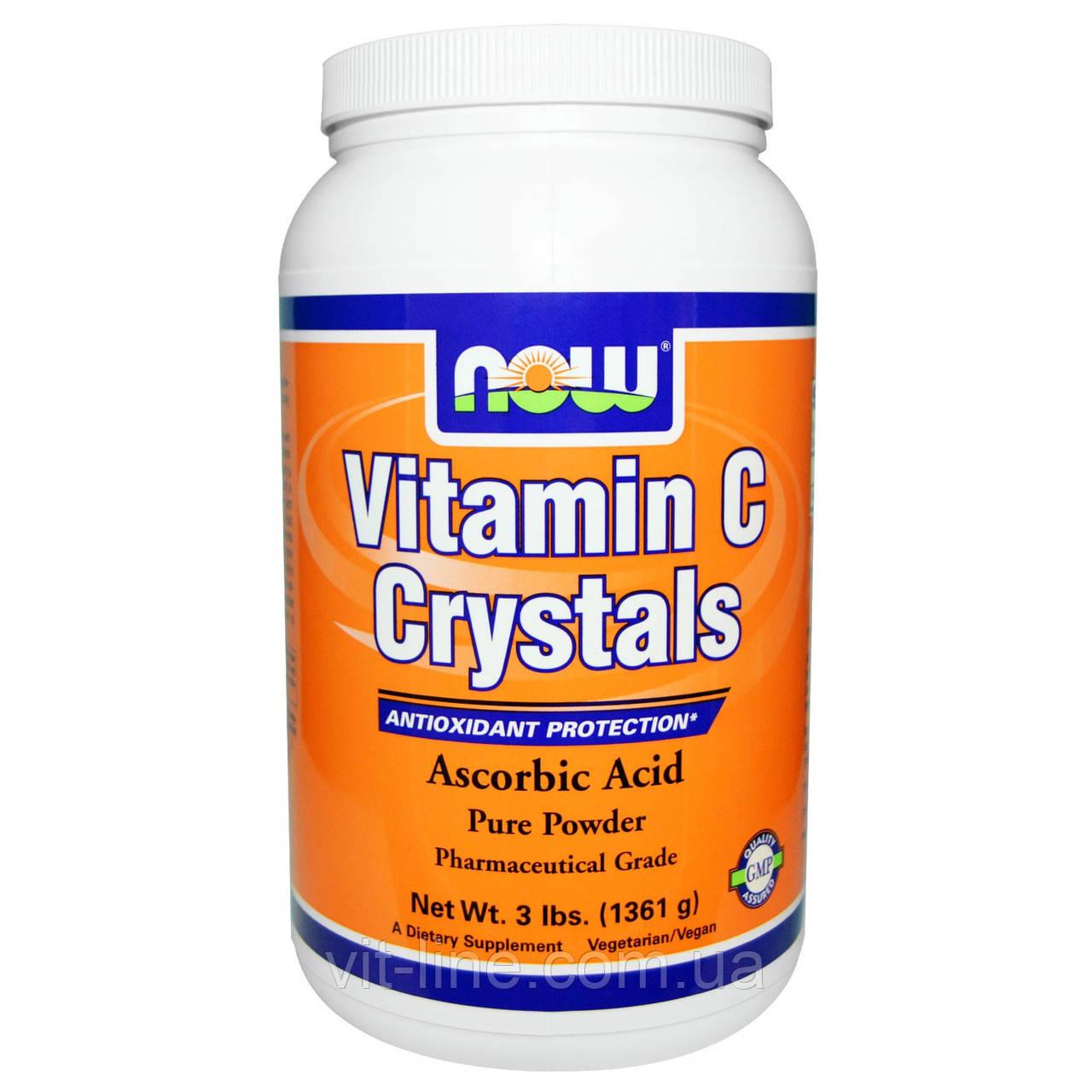 Now Foods, Витамин C в кристаллах (1361 г)