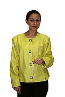 Ярко-желтая куртка на кнопках, фото 1