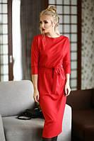 Платье со свободным верхом и юбкой миди
