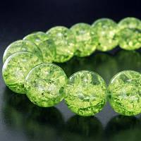 Бусины Зеленые Битое стекло 4 мм 50 шт/уп