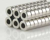 Неодимовый дисковый магнит 6х3 мм с отверстием 3 мм магніт N52 шайба 6 х 3 отверстие