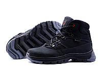 Подростковые кожаные ботинки Ecco walker black Crazy