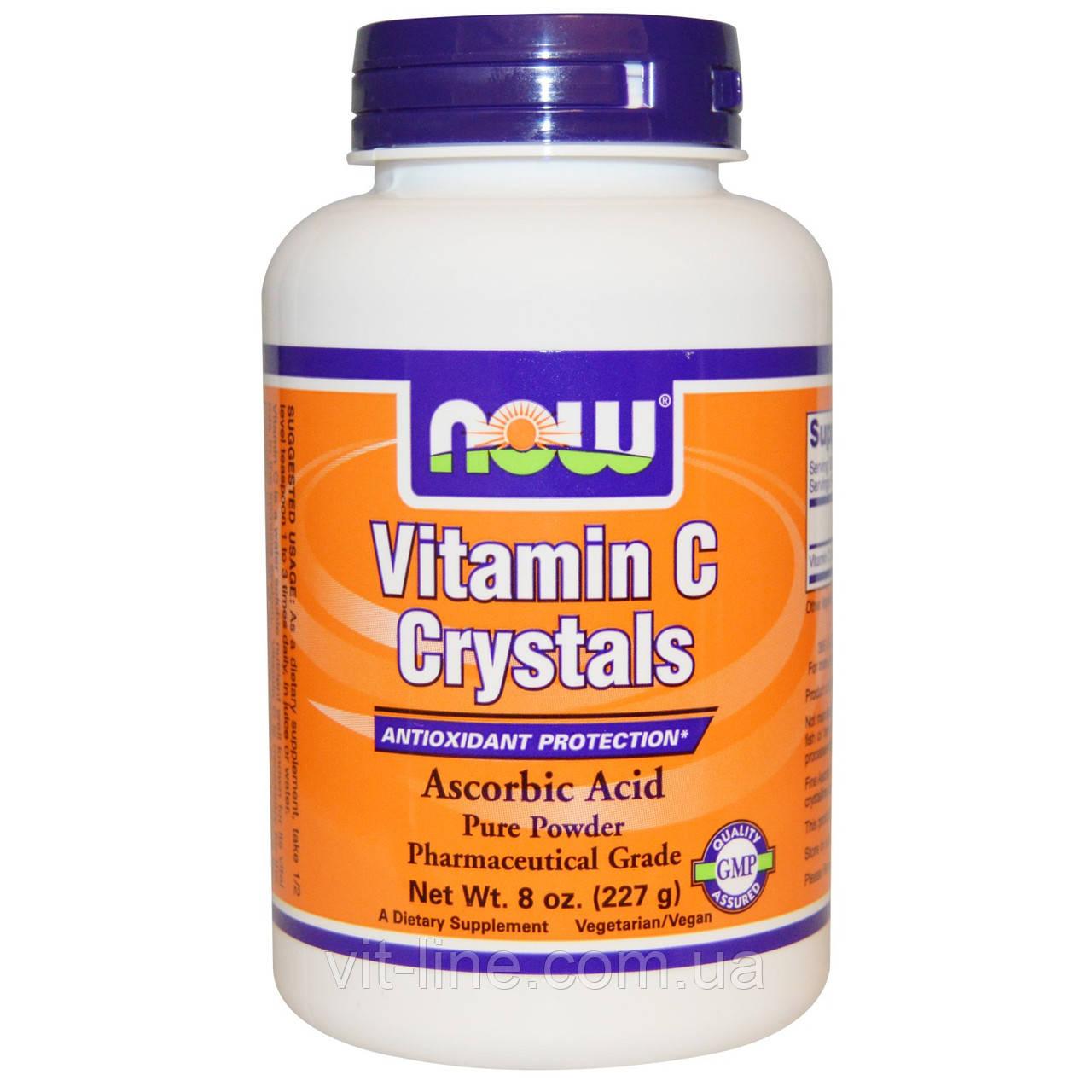Now Foods, Витамин C в кристаллах (227 г)