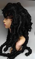 Парик длинные локоны черный 80 см