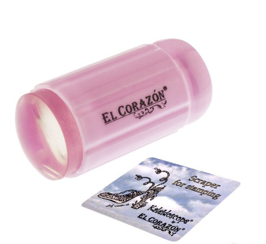 Прозорий штамп для стемпинга El Corazon