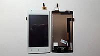 Дисплей  (экран) Lenovo A1000 (телефон) с сенсором белый original.