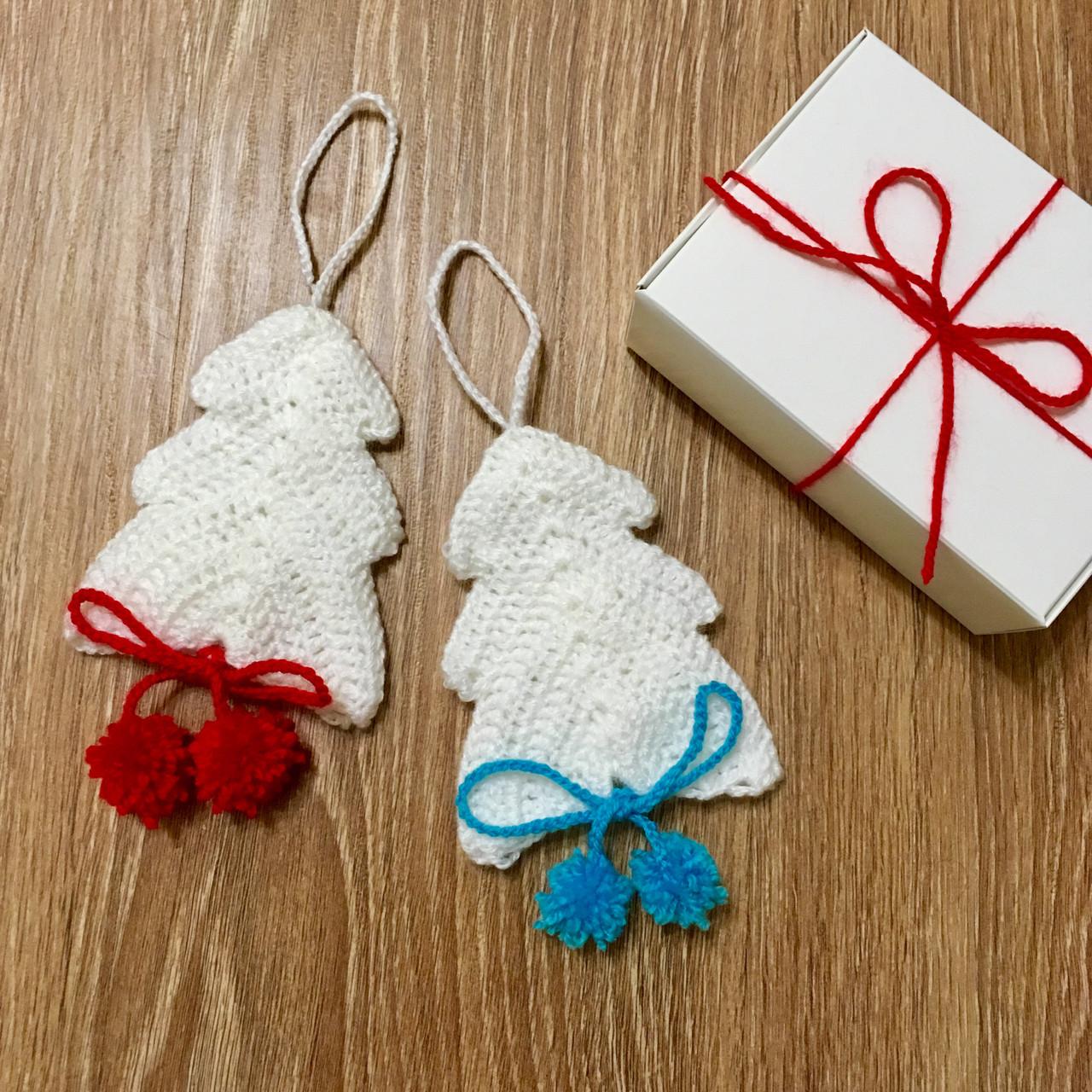 Дизайнерские украшения на елку ручной работы. Набор из 2-х шт. В подарочной упаковке.