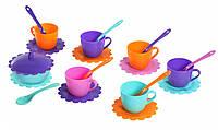"""Игровой набор детской посуды """"Ромашка на 6 персон с сахарницей"""""""