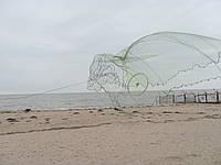 Кастинговая сеть из капроновой нити с большим кольцом диаметром 6 м (парашют, намет)