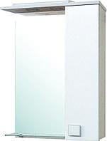 "Зеркало шкафчик настенное в ванную ""Домино"" 70х80 бежевое"