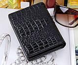 Жіночий гаманець Alligator Black, фото 2