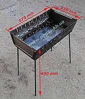 Мангал чемодан на 10 шампуров металл 2 мм