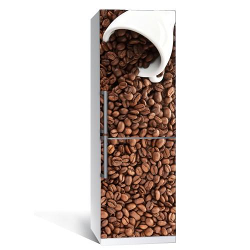 Наклейка на холодильник Кофе виниловая пленка самоклеющаяся глянцевая с ламинацией 650*2000 мм