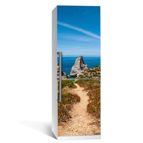 Наклейка виниловая на холодильник Пейзаж (самоклеющаяся пленка фотопечать)