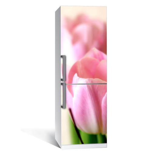 Наклейка интерьерная на холодильник Тюльпан (виниловая пленка самоклеющаяся фотопечать)