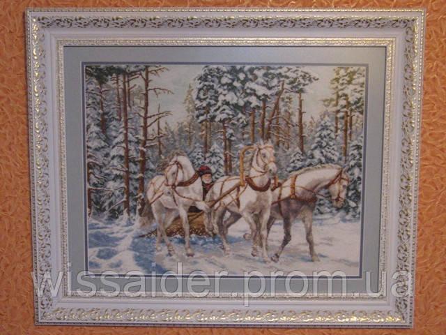 """Картина """"Тройка белых лошадей"""""""