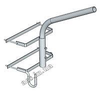 Кронштейн (однорожковый) для светильника уличного освещения О2СС1Г120 на двойную опору