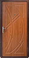 Двері броньовані Молоток-МДФ, ручка на планці