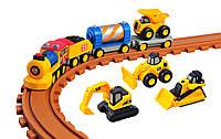 Железная дорога CAT со светом и звуком для дошкольников Toy State (80408)