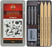 Набор для эскизов Gioconda металлическая упаковка 8 предметов Koh-i-Noor