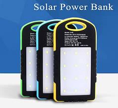 Портативное зарядное устройство solar power bank 5000mAh, Фонарь 12Led
