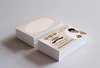 Дизайн печать глянцевых визиток