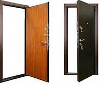Двері броньовані Молоток-МДФ, ручка на планці+коробка з чвертю