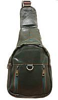 Стильный рюкзак кожаный 215 green
