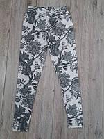 Лосины трикотажные с цветочным рисунком для девочки р.158-164 Aura via