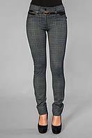 Трикотажные плотные брюки-лосины синего цвета, р.42,44 код 1486М