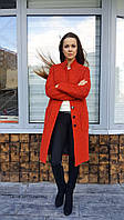 Пальто женское П1 букле красное