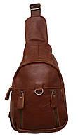 Стильный рюкзак кожаный 215 chocolate