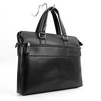Портфель-сумка кожзам мужской черный Giorgio Armani 6618-3