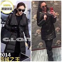 Зимняя куртка женская Лиза черная , куртки женские